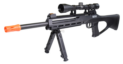 ASG TAC-6 CO2 Semi-Auto Sniper Rifle Kit With Scope Integrated Laser & Bipod