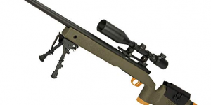 Evike ASG Licensed Mcmillan M40A5 Gas Powered Bolt Action Airsoft Sniper Rifle