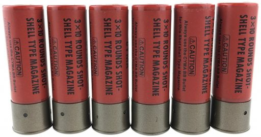 SportPro 30 Round Polymer Shell for 6mm BB Airsoft - 6 Shells - Red