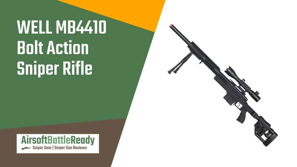 WELL MB4410 Bolt Action Sniper Rifle Review - Airsoft Battle Ready