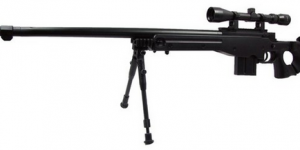 WELL L96 Airsoft Spring Sniper Rifle With Folding Stock Scope Bipod And Monopod